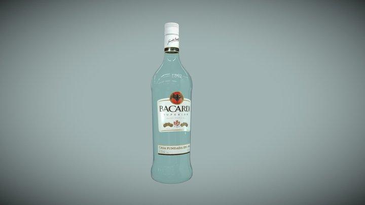 Bacardi bottle medium-poly 3D Model