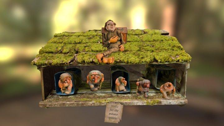 cruver family birthday trolls 3D Model