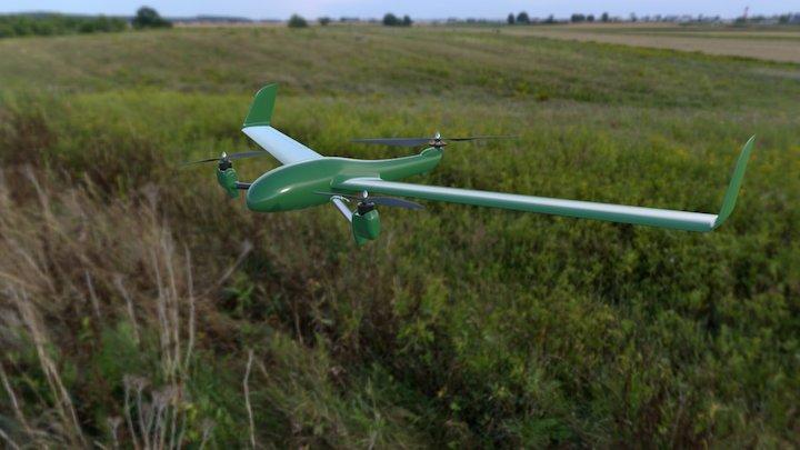 Flightwave Edge VTOL - MAPIR Kernel Camera 3D Model