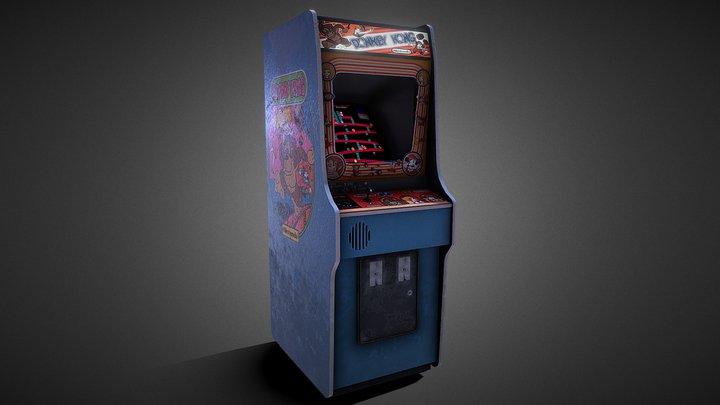 Retro Donkey Kong Arcade Machine 3D Model