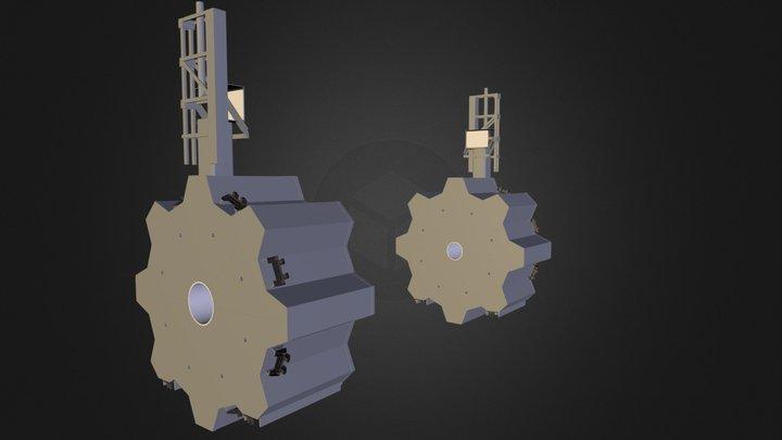 CERN ATLAS Experiment - Detector - Endcap Toroid 3D Model
