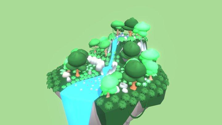 Jungle Island 3D Model