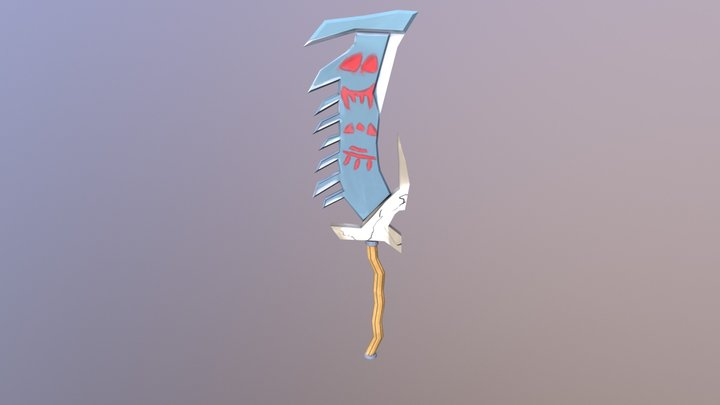 Orc axe cleaver World Of Warcraft 3D Model
