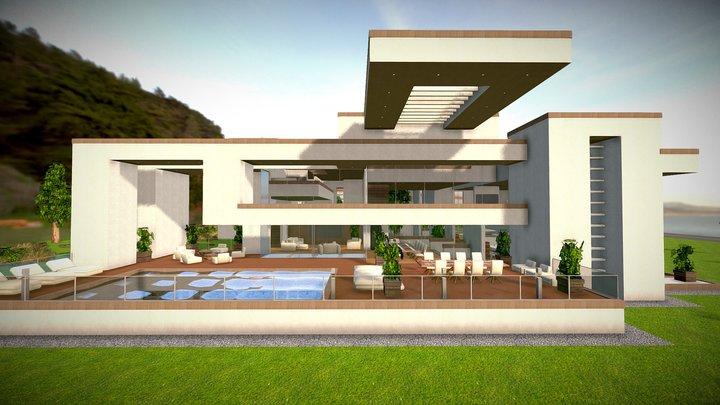SHC Modern Mansion Assets Complete Pack 3D Model