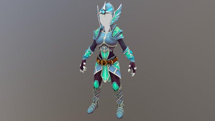 Elf Armor Ranger 3D Model
