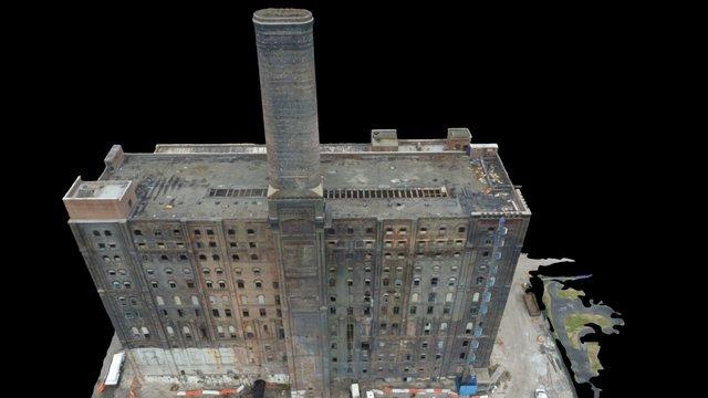 Domino Sugar Refinery Factory 3D Model