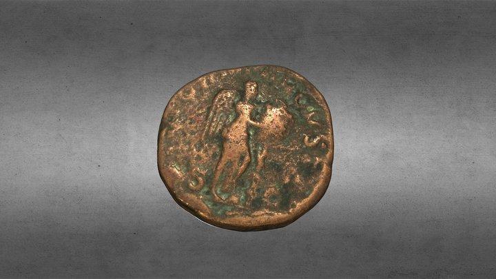 Moneda Romana , sestercio de Severo Alejandro 3D Model
