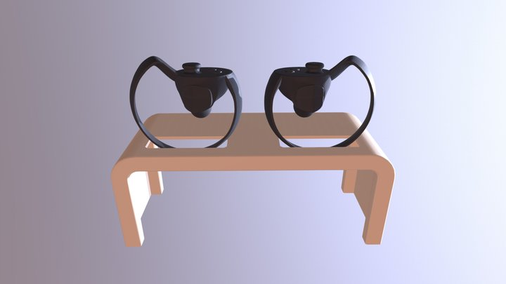 Oculus Touch Controller Stand 3D Model