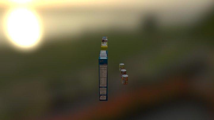 Cajas Latas 3D Model