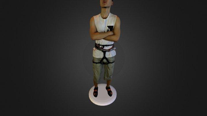 Climber20cmSandstoneColorPrintable 3D Model
