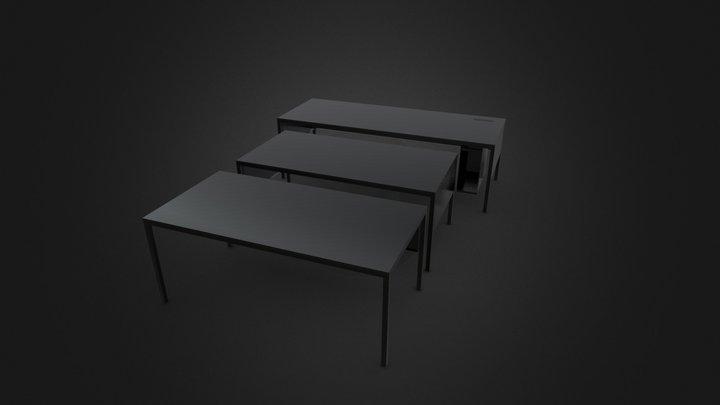 Helsinki Office 35 Desk System By Desalto 3D Model
