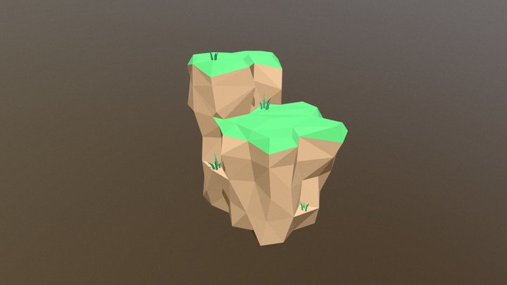 Low poly Cliff 3D Model