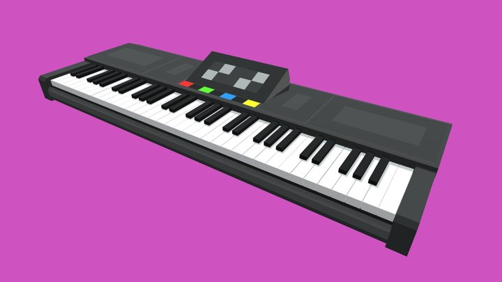 Electronic Keyboard / Low-Poly / Minecraft 3D Model