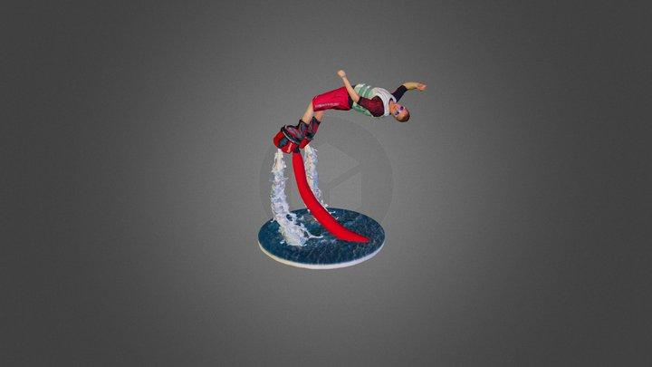 flyboarder Bo 3D Model