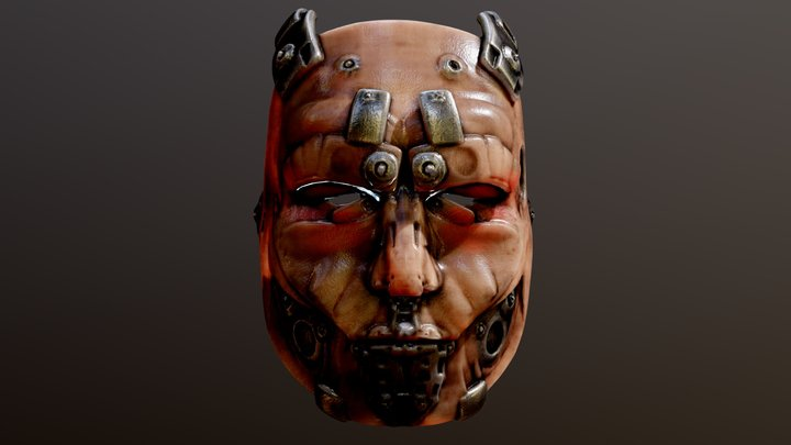 Terminator Android Face 1 3D Model
