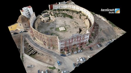Roman amphitheater of Cartagena, Spain 3D Model