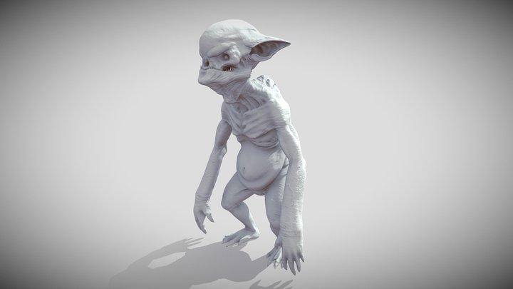 ZBrush for concept: Goblin 3D Model