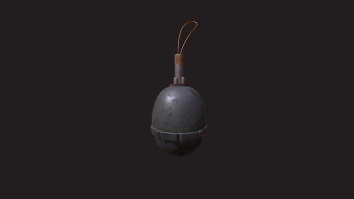 WW1 German Grenade Firts Full Pipeline 3D Model