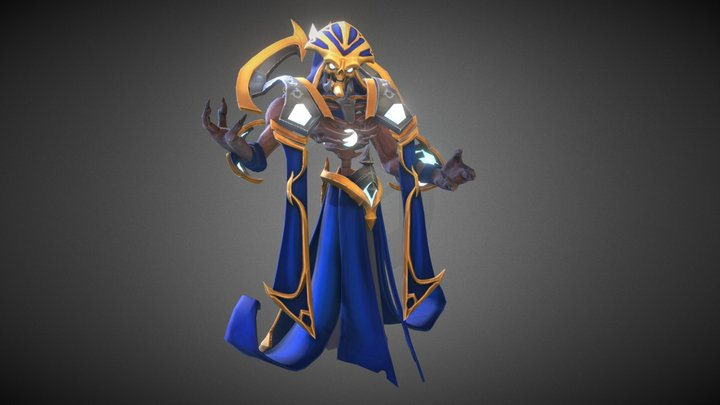 Skeleton Mage 3D Model