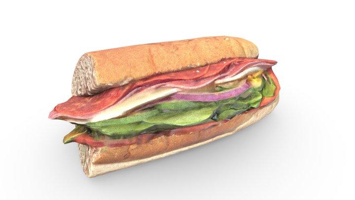 Sub Sandwich 3D Model