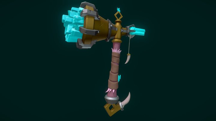 Crystal Hammer ~ Stylized Weapon 3D Model