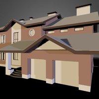 дом2 3D 3D Model