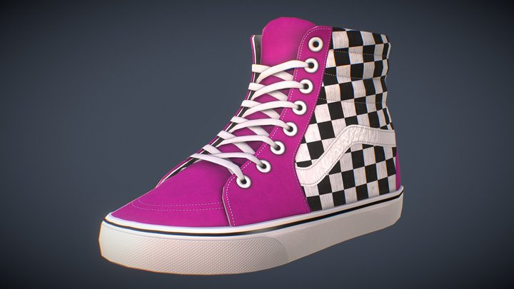 Customizable Hi-Top Shoe 3D Model