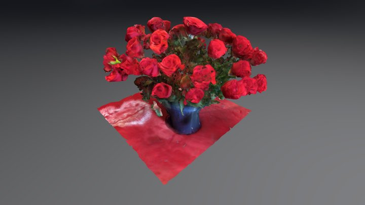 Roses rough 3D scan 3D Model