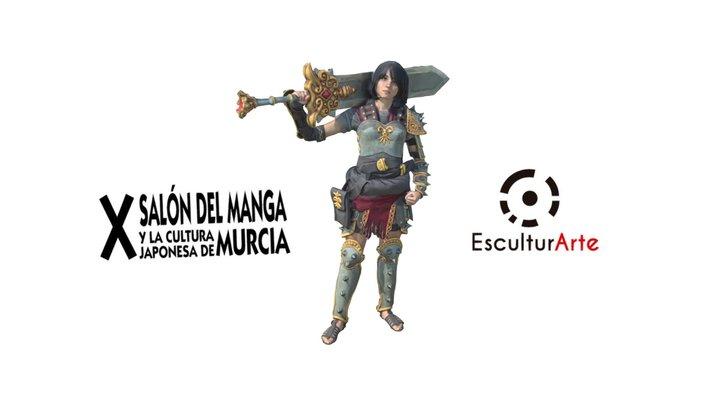 Bellona Smite - Salon del Manga Murcia 2018 3D Model