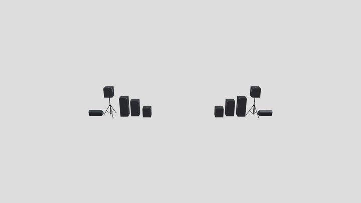 DJ Speakers 3D Model