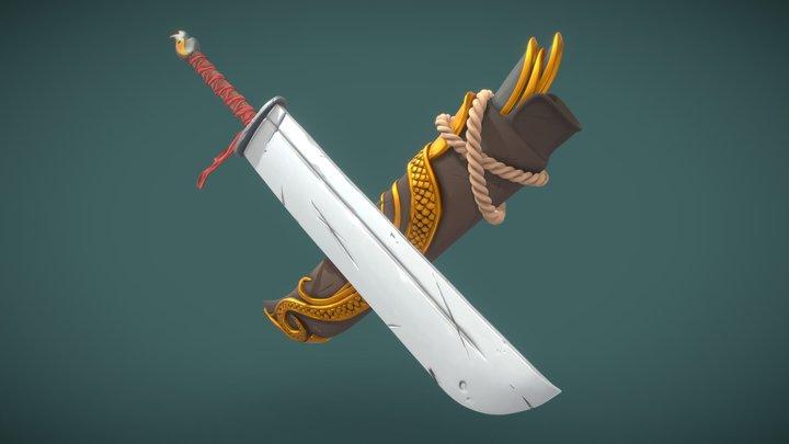 DS - The adventurer's Camp - Berserk Katana 3D Model