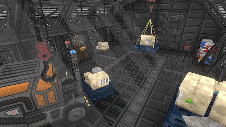 Above Horizons - Cargo Hold Interior 3D Model