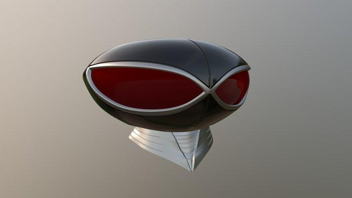 Black Manta Helmet 3D Model