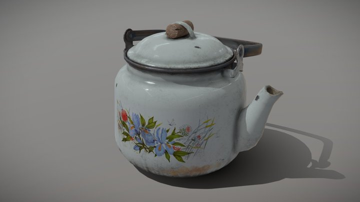 Teapot from Russia (USSR) 3D Model