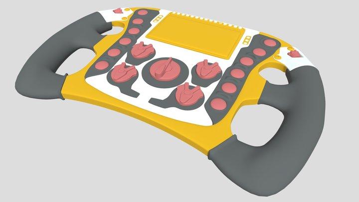 Renault steering wheel 3D Model