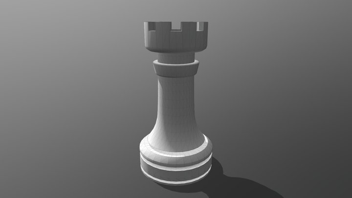 Chess Rook 3D Model
