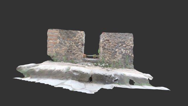 Drain on vicolo della Maschera, Pompeii 3D Model