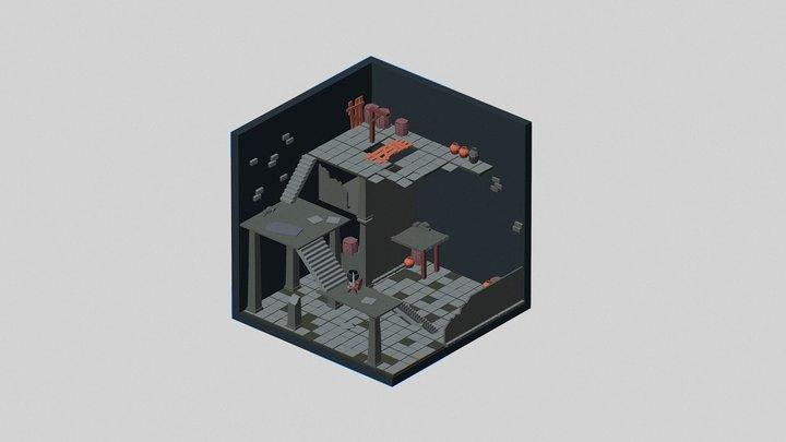 Iso Dungeon 3D Model