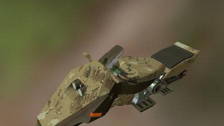 Military Sci-Fi motorbike 3D Model