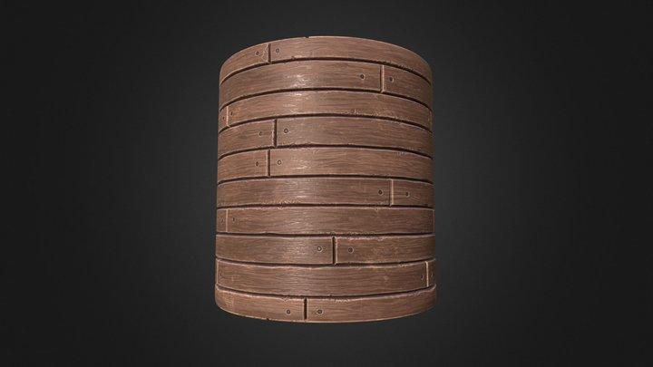 Wooden Floor (Tileable Material) 3D Model