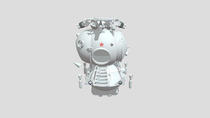 LK lunar lander (untextured) 3D Model