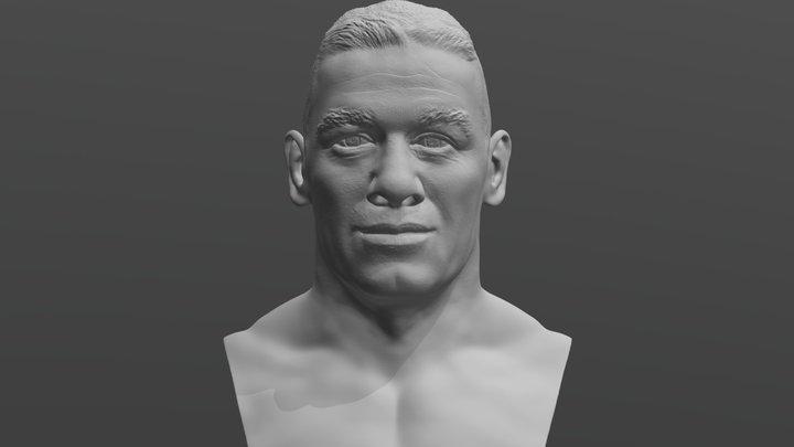 John Cena bust for 3D printing 3D Model
