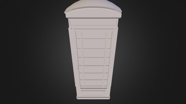 London Telephone Booth 3D Model