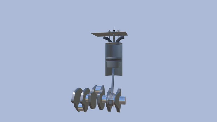 Engine internal parts 3D Model