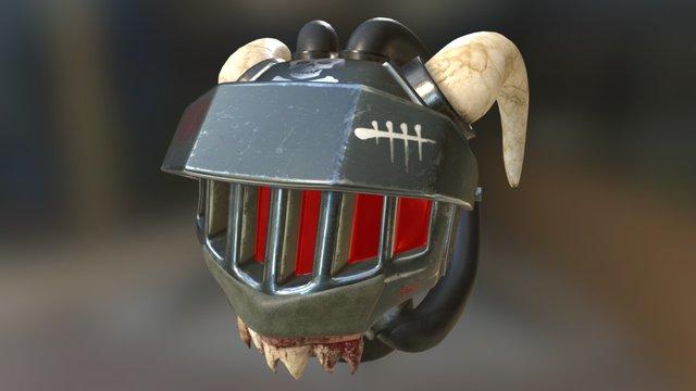 SciFi Gladiator Helmet 3D Model