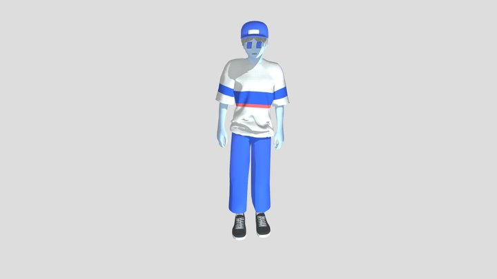 3d animated boy 3D Model