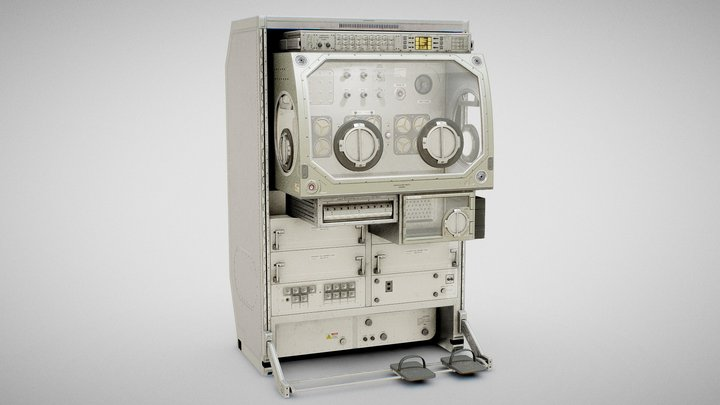 Microgravity Science Glovebox - ISS MSG 3D Model