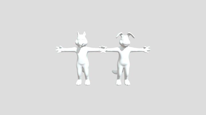 BunKit And Cabbit 3D Model