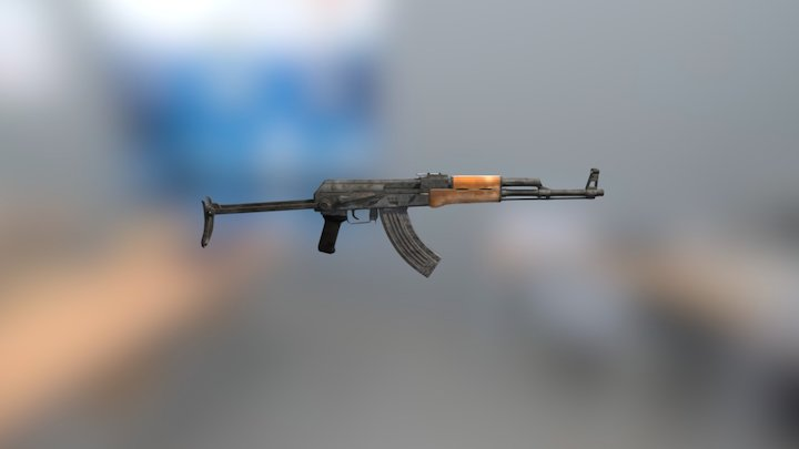 AKMS (AK47 modification) 3D Model