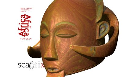 Luba mask from the Congo 3D Model